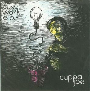 "A hand-colored cuppa joe 7"" sleeve"