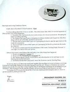 Footstone Distro Letter